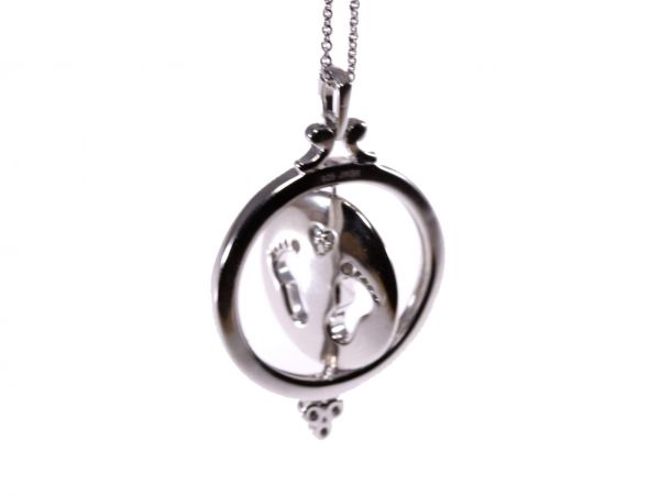 footprint family tree grande hold products upon handprint of life heart necklace gold silver birthstone in